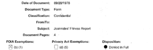 Joannides fitness report